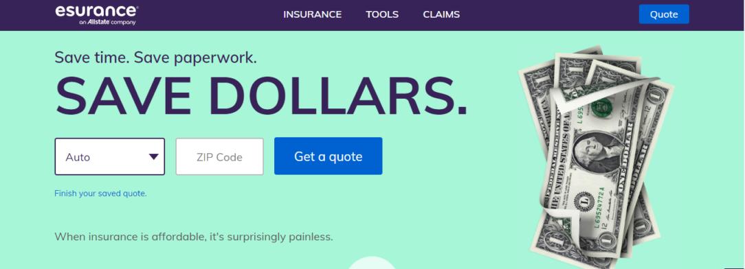 Esurance Auto Insurance Website Online Quote
