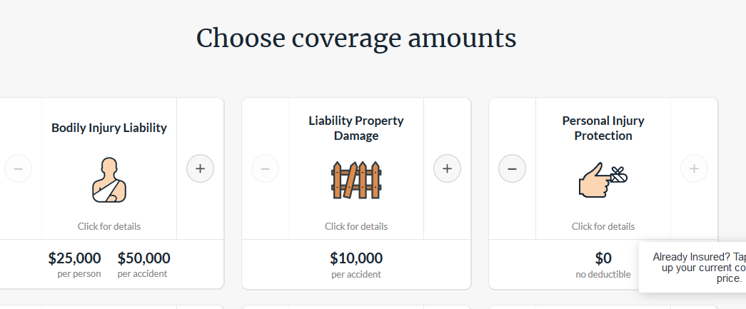 Tri-State Auto Insurance Website Online Quote Liability Coverage Limits