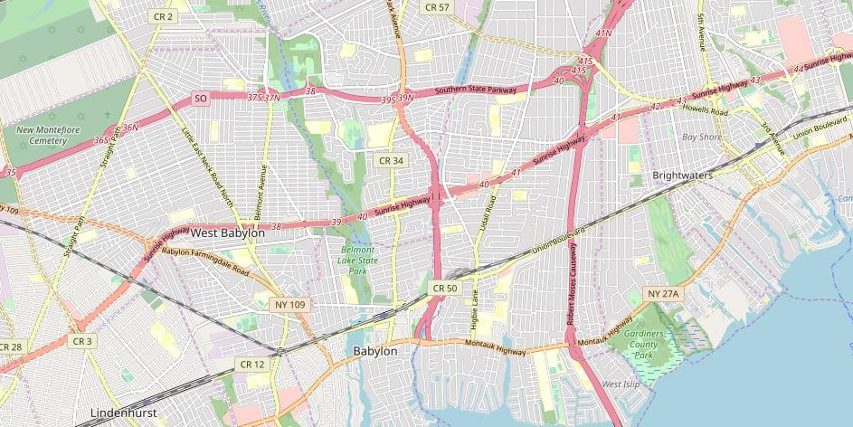 Babylon, New York Major Highways