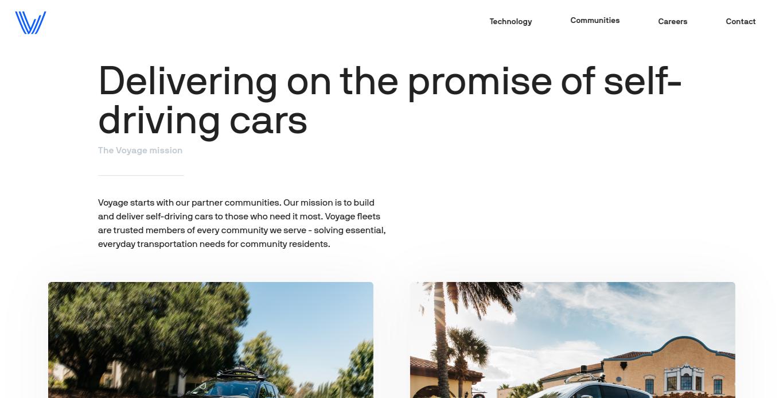 Voyage Auto Communities Page