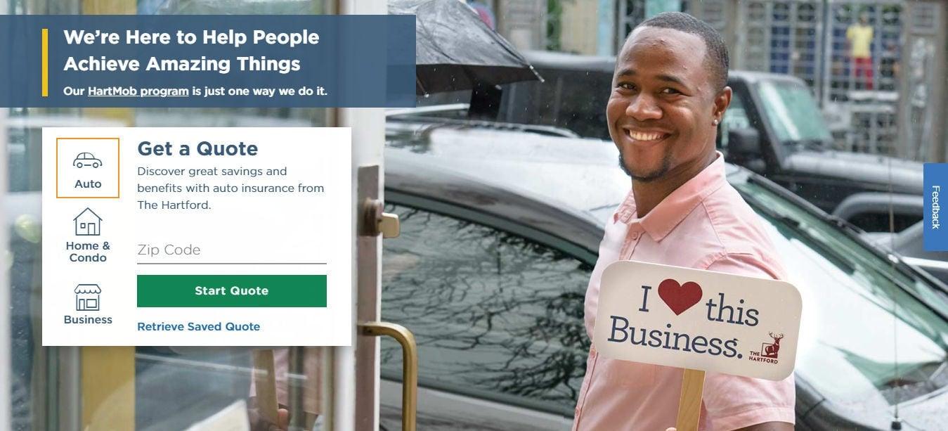 Sentinel Hartford Auto Insurance Online Quote Page