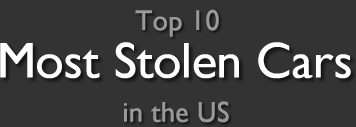 Top 10 Most Stolen Cars in the US